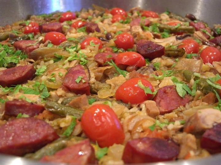 chorizo paella is not at authentic Spanish dish!