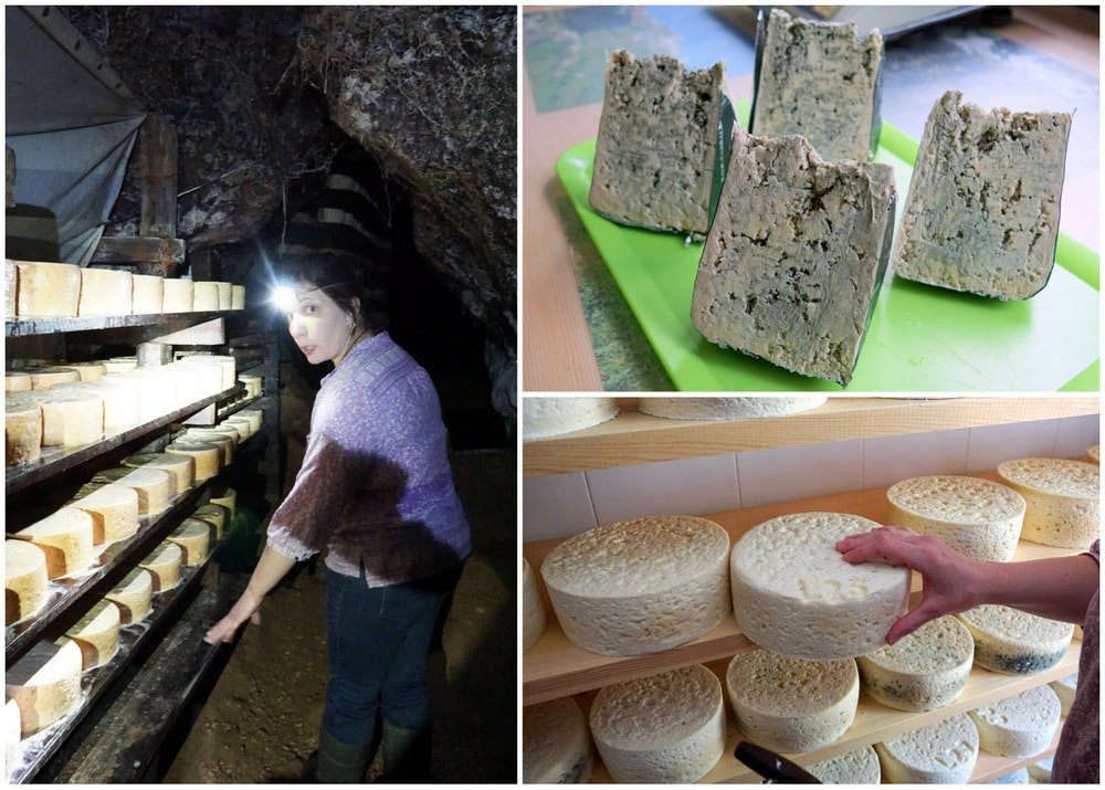 Strong Cabrales cheese is cured in caves near Arenas de Cabrales.