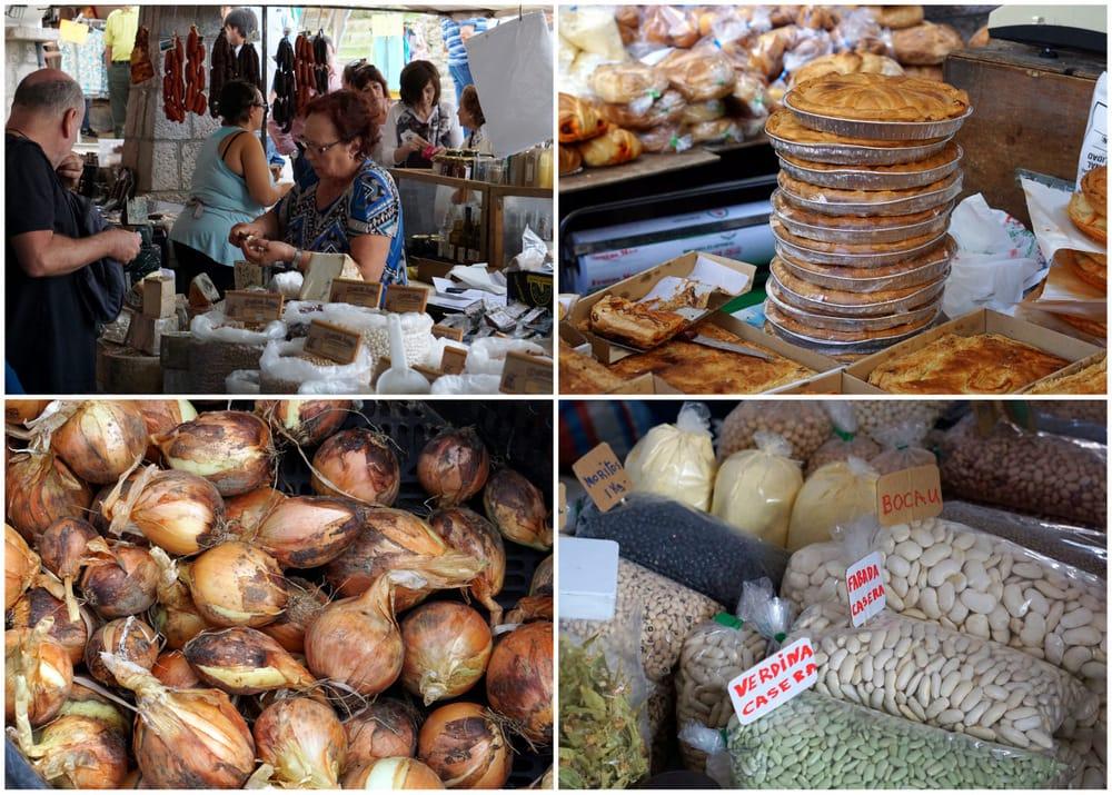 Sunday morning market in Cangas de Onis, Asturias.