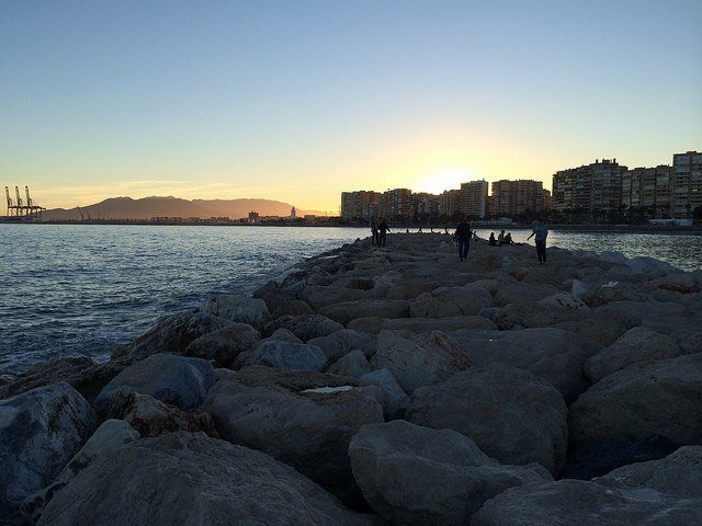 One of our most romantic of the Malaga attractions is also most simple: watching the sunset from La Caleta beach
