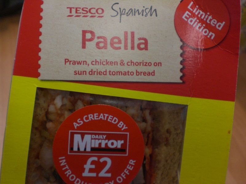 Paella sandwich