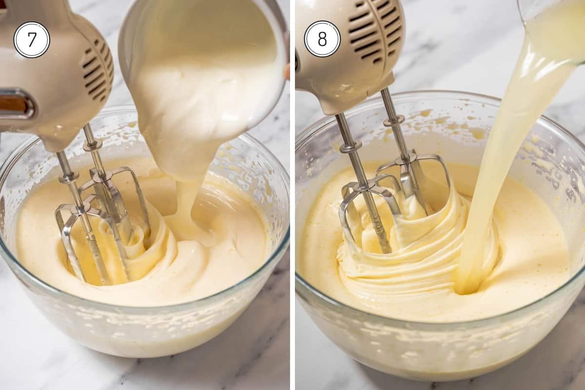 Steps 7-8 of lemon olive oil cake