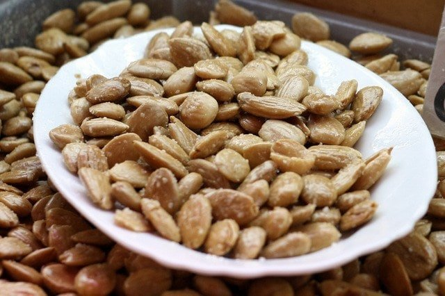 Fried, salted marcona almonds are one of the simpler typical tapas in Malaga, but they are just as delicious and flavorful!