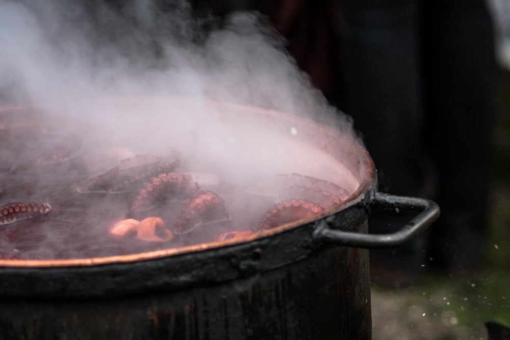 Boiling tentacles are a common sight in O Carballiño, the Octopus capital of Spain.