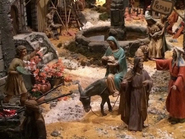 Something to do in Malaga at Christmas is see the impressive Nativity Scene at the Town Hall