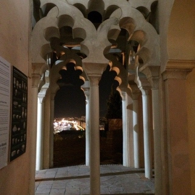 One of the things to do in Malaga at Christmas is visit the Alcazaba by night and enjoy these views!