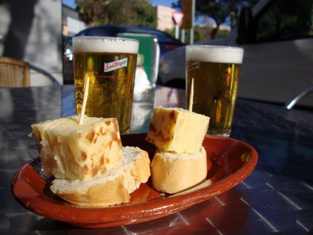 Having Tapas on a terrace in December: Just one of the things to do in Malaga at Christmas.