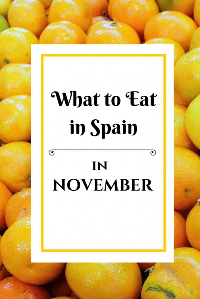 What's in season in Spain in November!