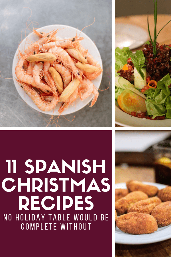Holiday dinners are a huge deal in Spain, with families lingering around the table enjoying fabulous food, wines, and desserts for hours on end. Bring a touch of Spain home this holiday season with these 11 traditional Spanish Christmas recipes! From appetizers and tapas to main dishes and more, you'll find plenty of seasonal favorites—and as a bonus, they're all pretty easy to make! #Spain #Christmas