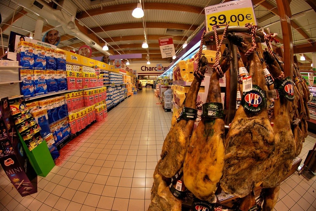 Tree-shaped displays of cured ham legs are a sure-fire sign it's almost Christmas in Spain