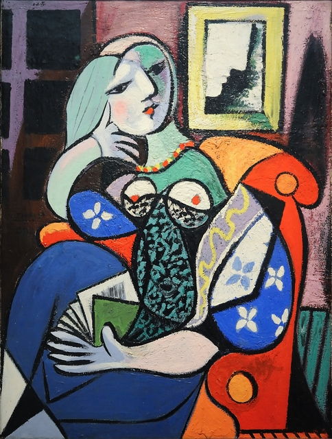"""Another great idea for a Christmas gift from Malaga is a Picasso print, like this one of """"Woman with a Book."""""""