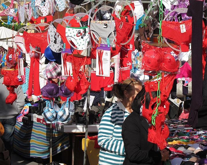 Red underwear in Spain