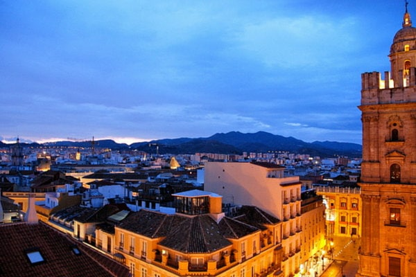Another of the best views in Malaga from the AC Malaga Palacio Hotel's rooftop terrace.