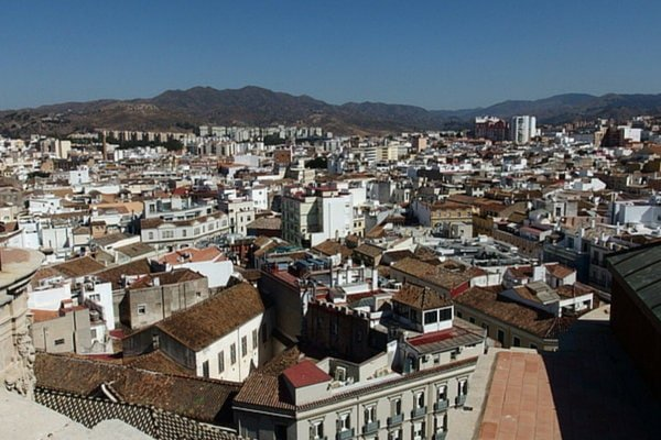 Views from the top of the Cathedral in Malaga. Some of the best Malaga views!