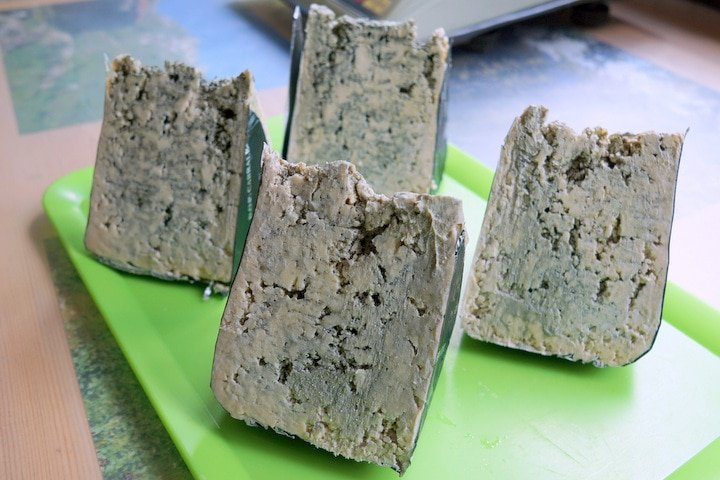Cabrales blue cheese in Spain