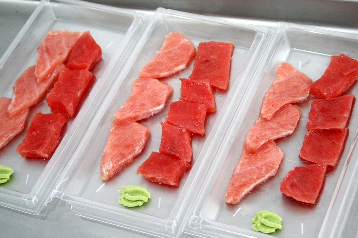 Tuna sashimi in Spain
