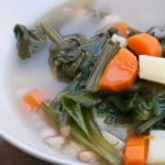 My vegetarian caldo Gallego recipe is the perfect white bean soup for winter!
