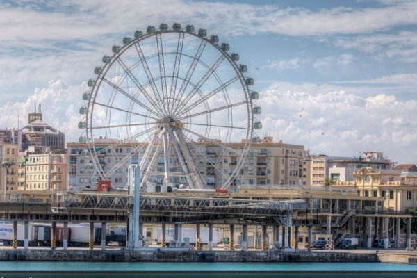 Malaga's Ferris Wheel gives you some of the best views in Malaga as you go for a ride.