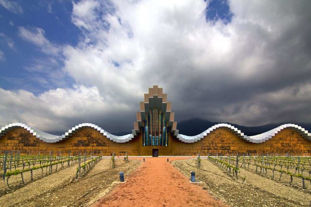 The Ysios winery in La Rioja is one of the most stunning wineries in Spain.