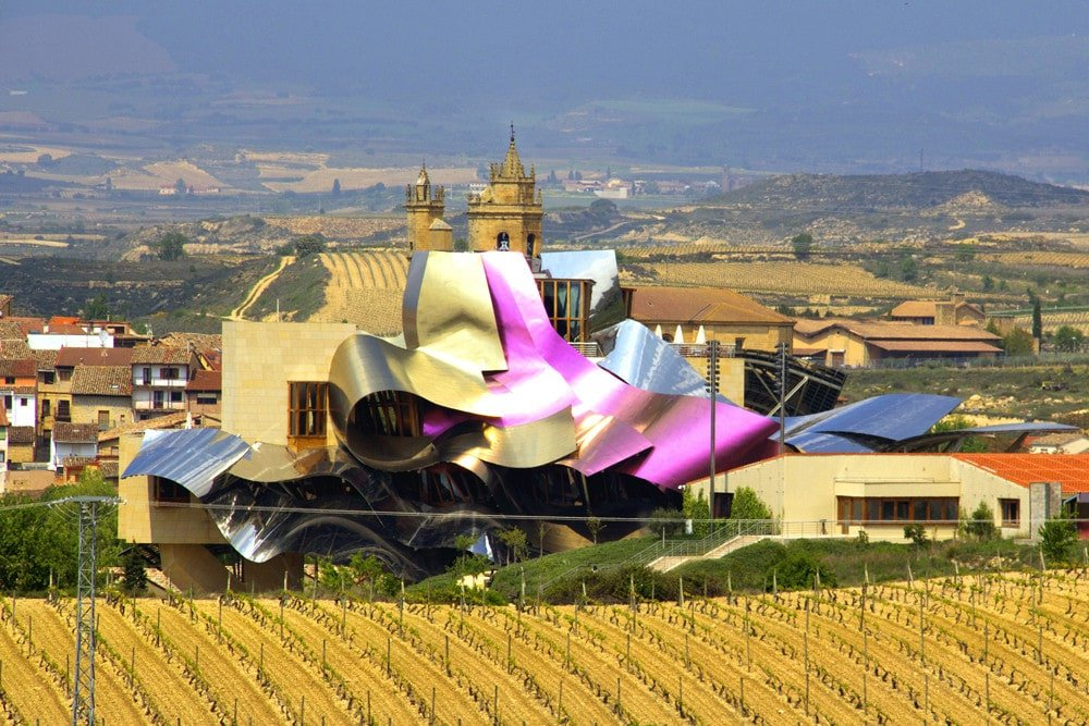 The shocking Marques de Riscal winery, hotel and spa is one of the most stunning wineries in Spain!