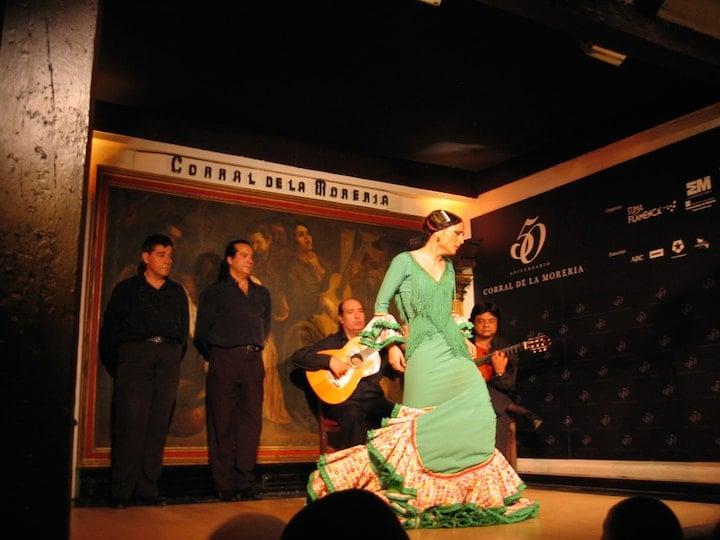 Seeing flamenco in Madrid at Corral de la Moreria.