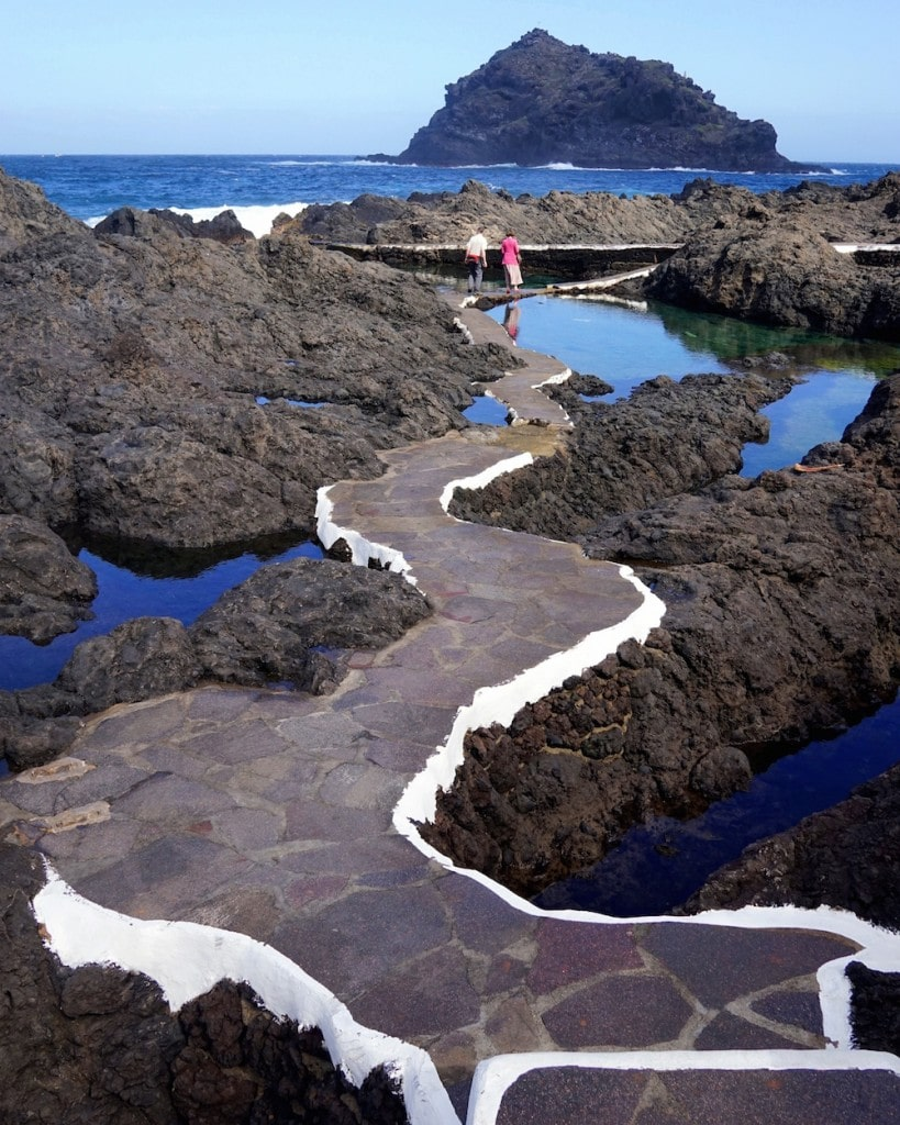 The beautiful natural swimming pools in Garachico, while staying at Boutique hotel San Roque.