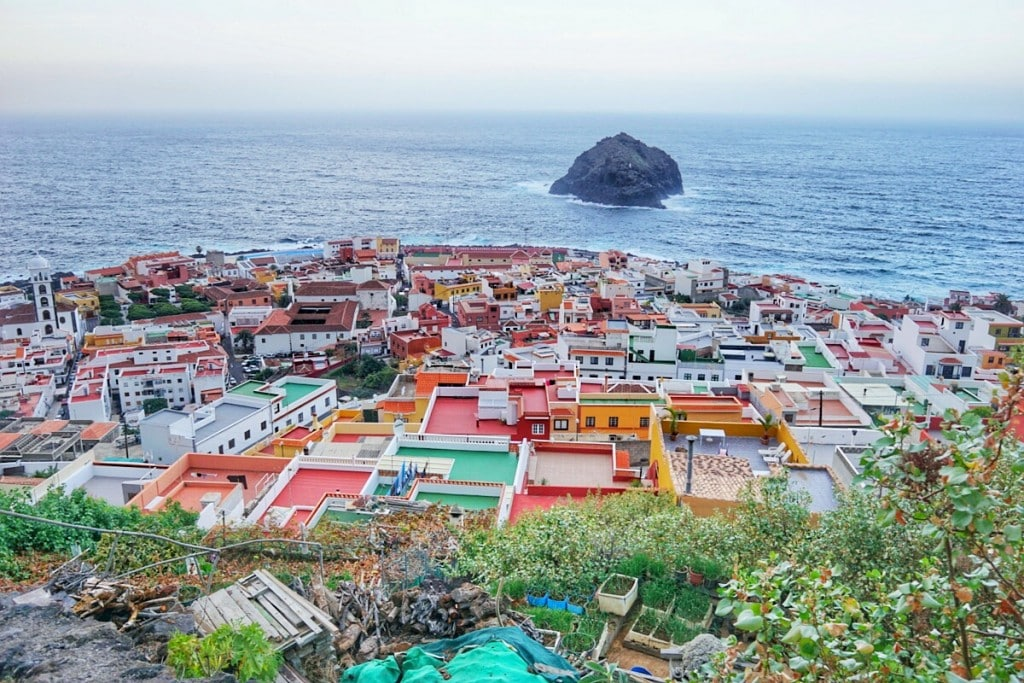 The town of Garachico, seen from a short hike to the hill behind it.