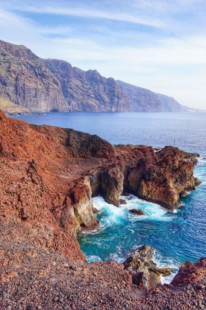 The beautiful Punta de Teno park in Tenerife, Spain.