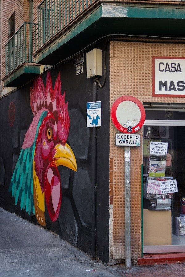 Street art in SoHo, right around the corner from Room Mate Valeria, one of the best hotels in Malaga