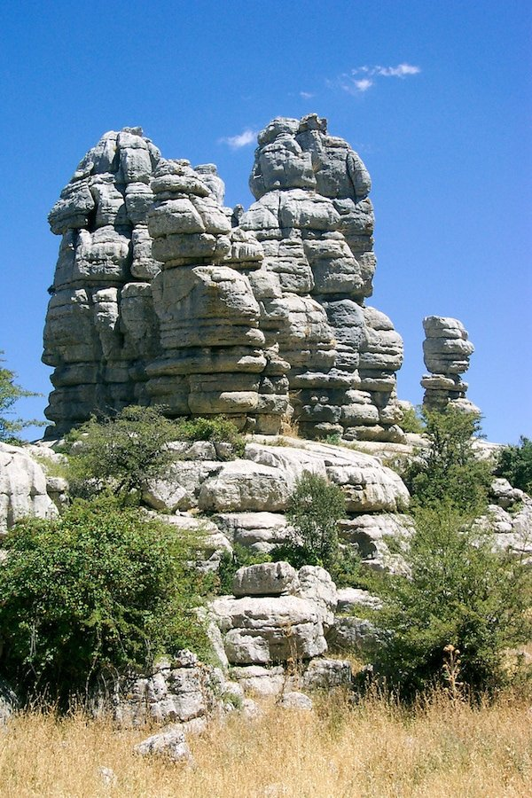 Rock formations at Torcal, near Antequera, another fantastic choice if you are looking for day trips from Malaga