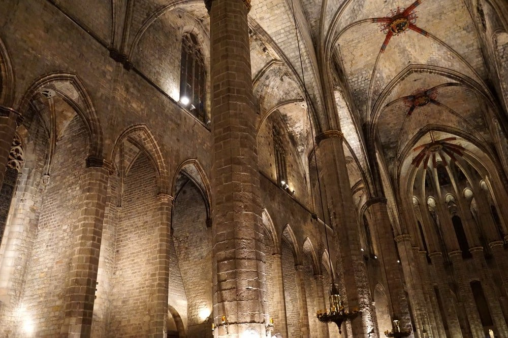 The beautiful Santa Maria del Mar church.