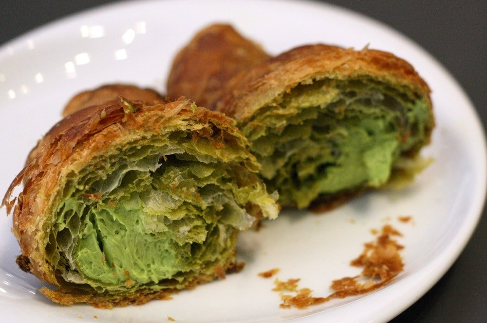 Croissants are a typical Barcelona breakfast food-- find out more in this Barcelona food guide!