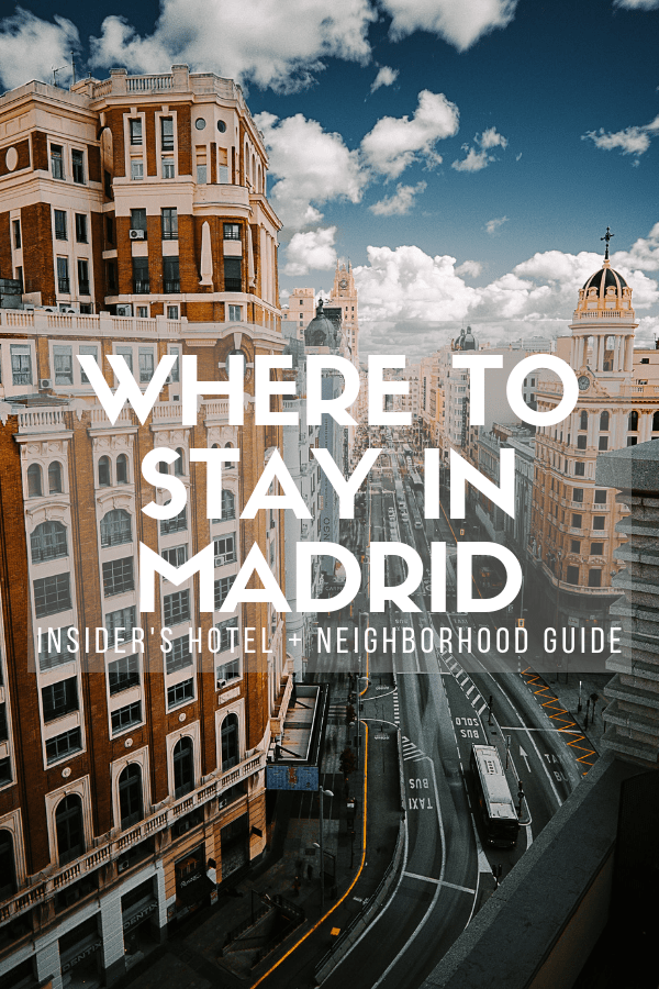 Whether you come during the winter, summer, or any other time of year, you'll find that there's no shortage of things to do in Madrid. But before you get started discovering the city and devouring tapas, you'll need a home base. This guide to where to stay in Madrid will break down the Spanish capital's best neighborhoods, and even give you a few hotel recommendations. #Madrid #travel