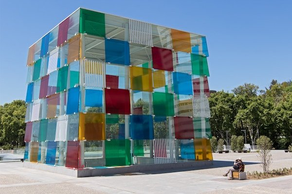 Visiting the Pompidou Center is one of the great free things to do in Malaga on Sunday!