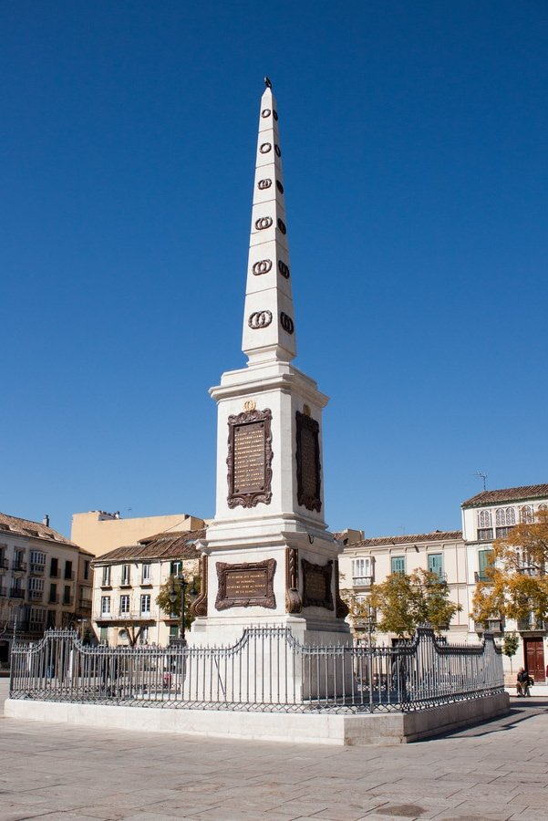 The oblieseq in Plaza de la Merced, one of the things to see in Malaga!