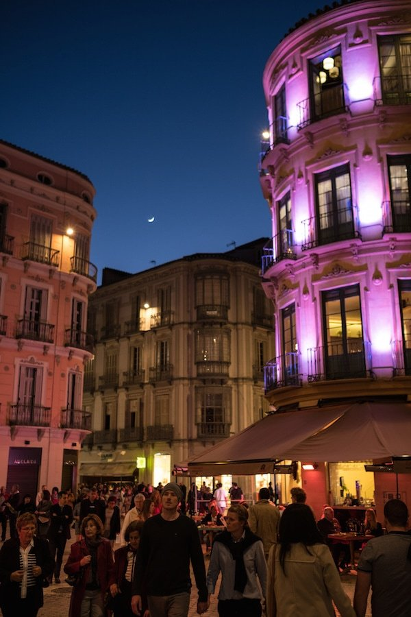 Malaga comes alive at night, so one of the top travel tips for Malaga is join the locals and eat late!
