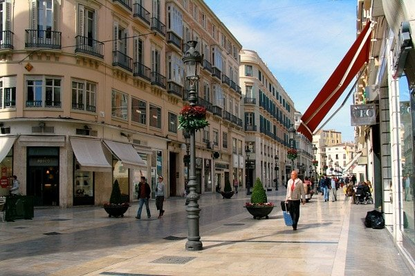 Shopping on Calle Larios is one of the best things to do in Malaga for cruisers as it's right near the Malaga cruise port.