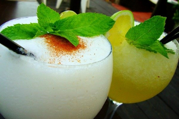 Not sure where to eat near the Malaga cruise port? Kaleido serves these fantastic cocktails!