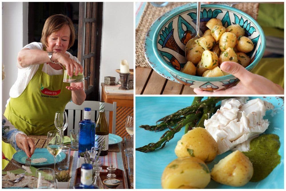 Annie B's Spanish kitchen cooking classes in Vejer.