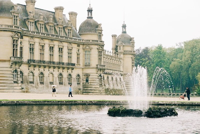 The beautiful Chateau de Chantilly.