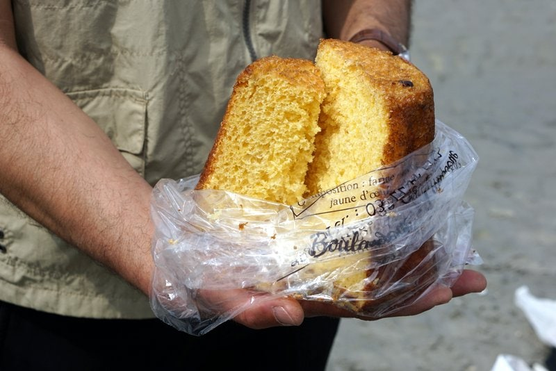 French Gâteau battu is one of the most typical foods to eat in Picardy, France.