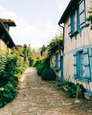 The beautiful village of Gerberoy in Picardy, Northern France.