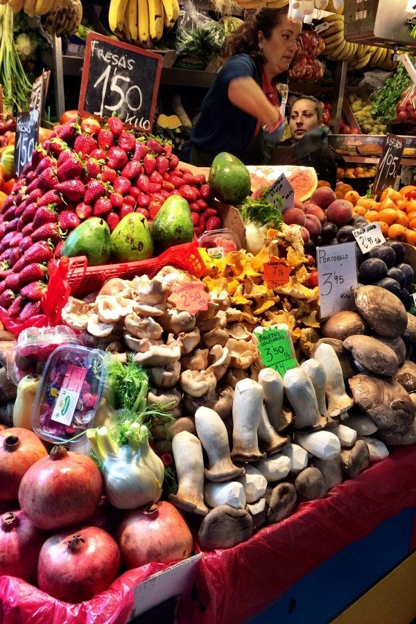 This guide to where to eat in Malaga wouldn't be complete without suggesting a stop to see the stands of fresh produce in the local food market.