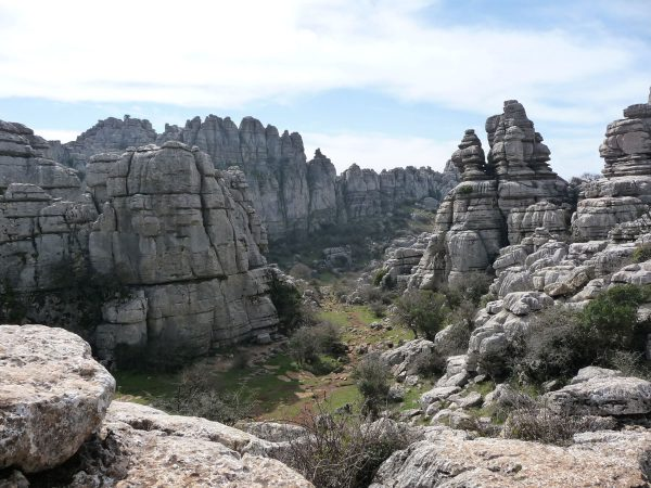 El Torcal is an area with such unique landscape and jagged rock formations, it has to be one of the best village day trips from Malaga.