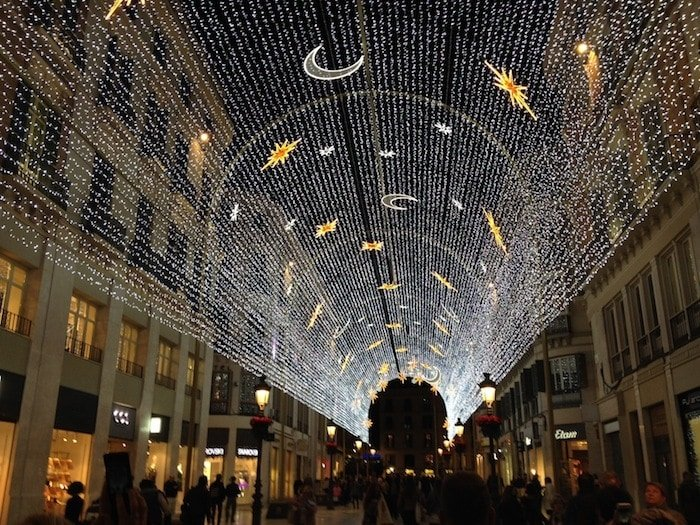 The lights on Calle Larios leading to one of the top Chirstmas markets in Malaga are a sight to behold!