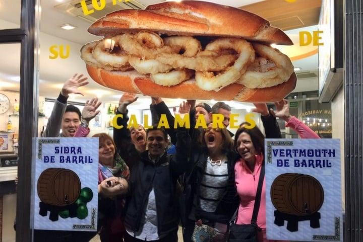 Calamari sandwich in Madrid