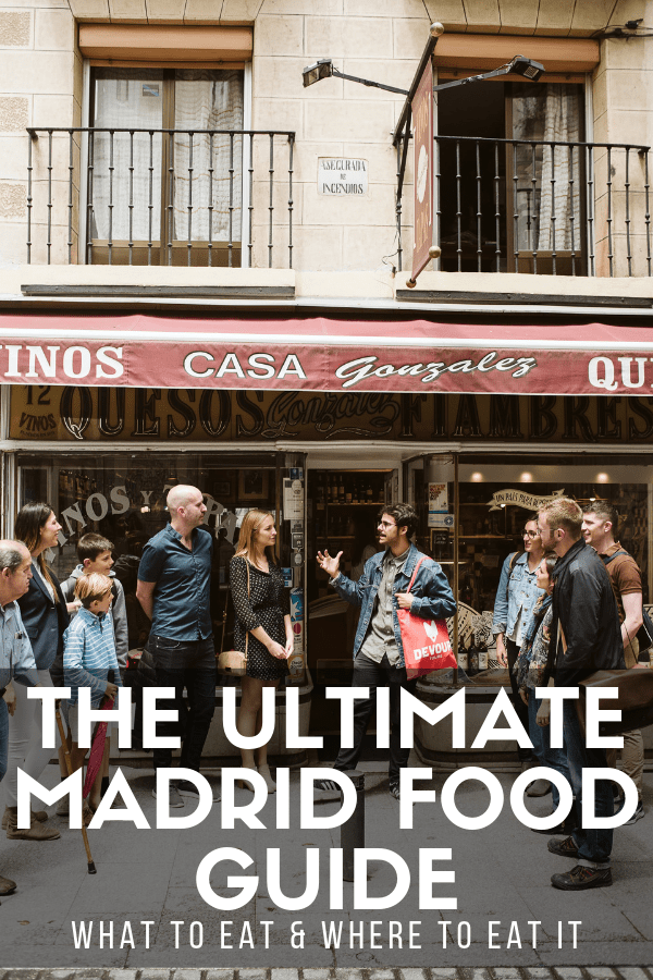 Narrowing down where to eat in Madrid can be a tall order. Take your pick from bustling tapas bars, iconic restaurants steeped in history, and colorful food markets. And then, of course, you'll have to figure out what to actually order once you're there! This guide is packed with fabulous recommendations for where to eat and what to get when dining out in Madrid. #Madrid #foodie