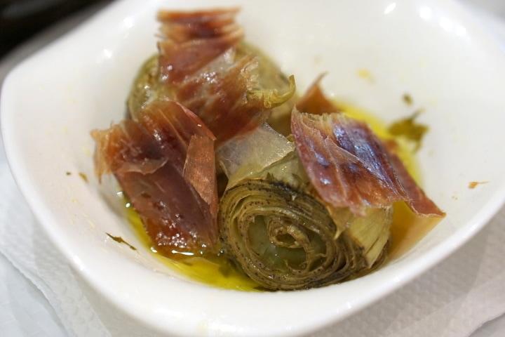 Malaga tapas tour -- artichokes
