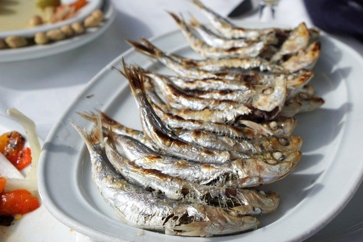 Espetos-- fish skewers in Malaga food tours