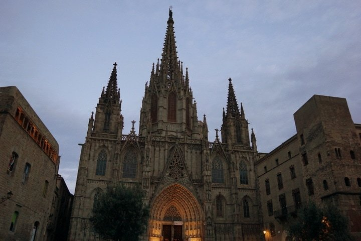The beautiful Barcelona cathedral.